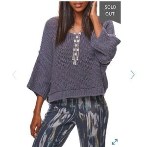 Free people halo knit pullover